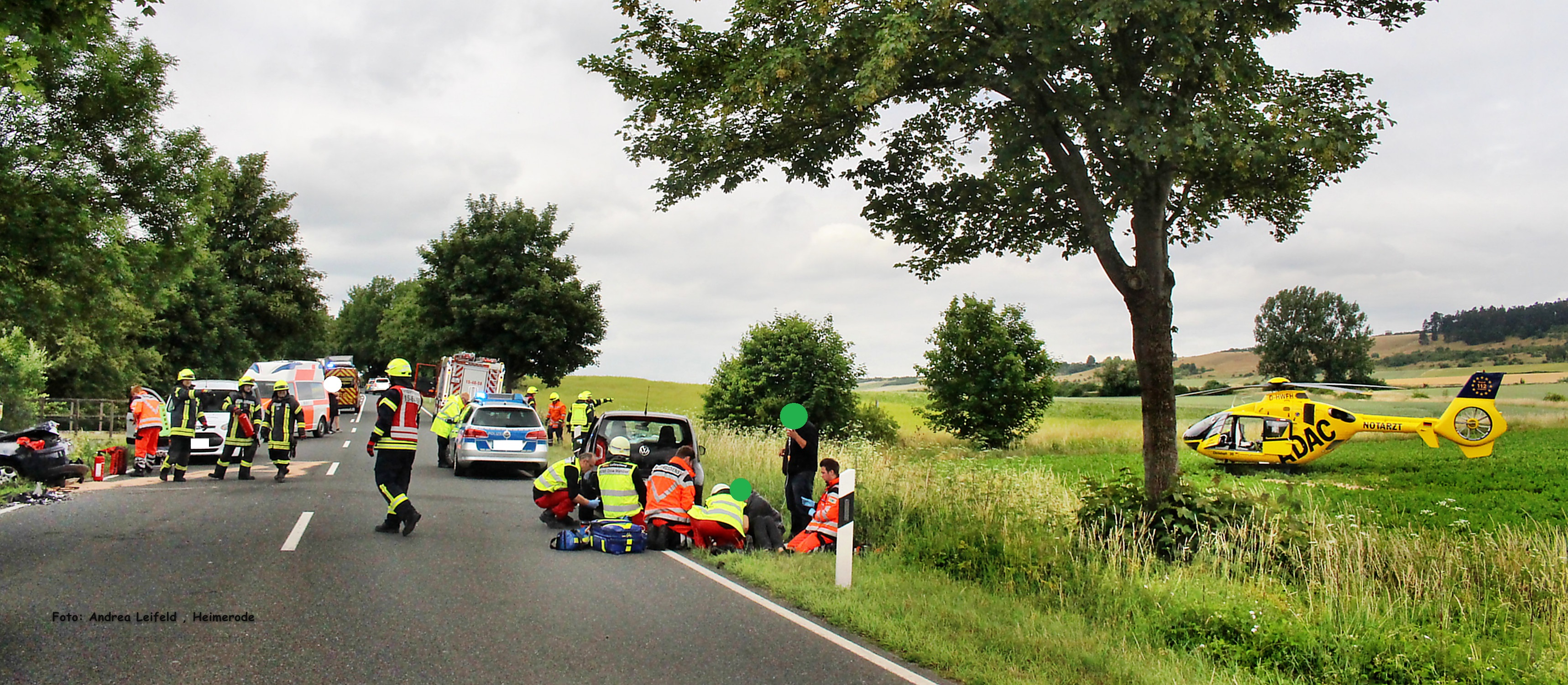 Schwerer Verkehrsunfall mit 2 eingeklemmten Personen auf der Bundesstraße 6 in Fahrtrichtung  Salzgitter