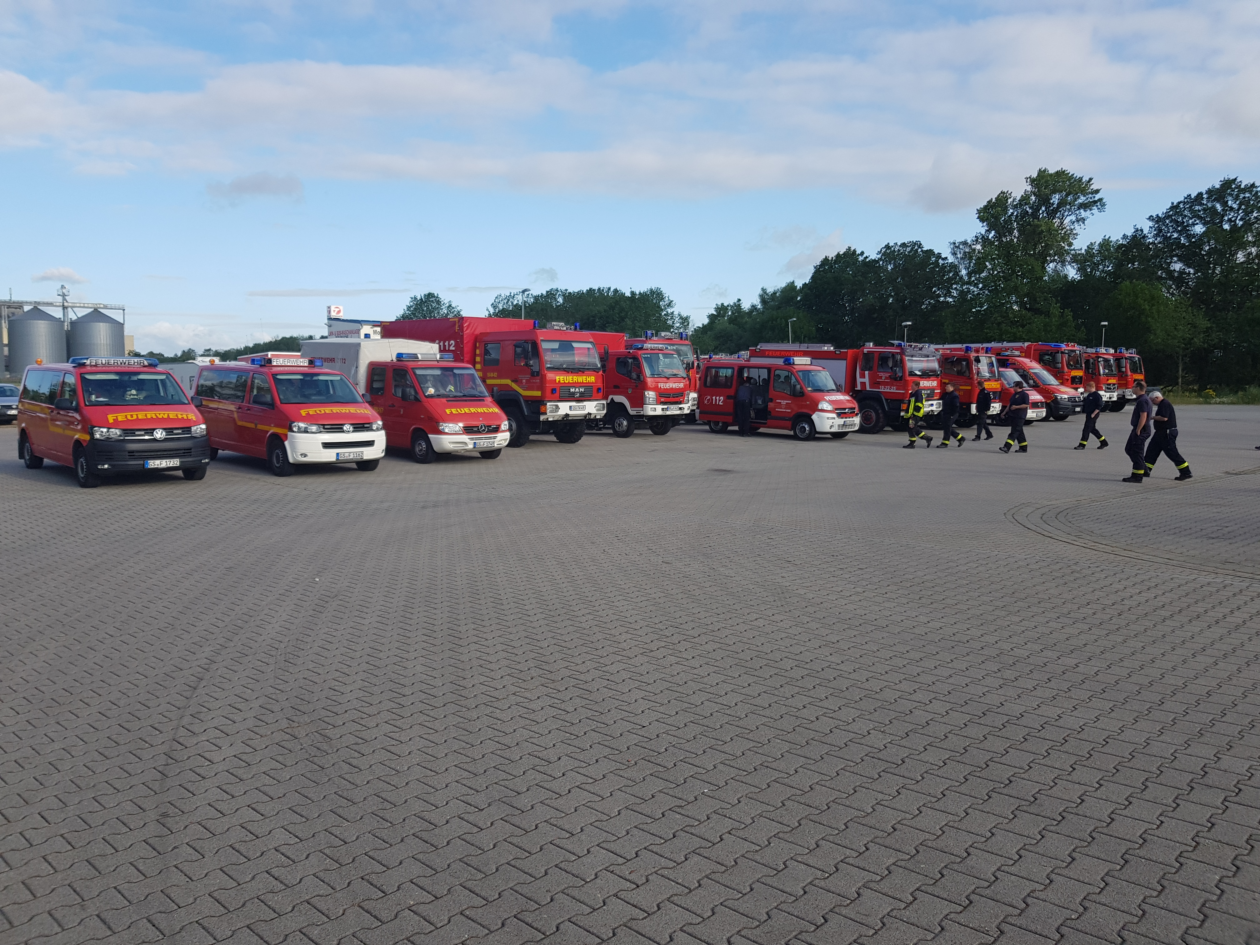Waldbrandeinsatz in Lübtheen