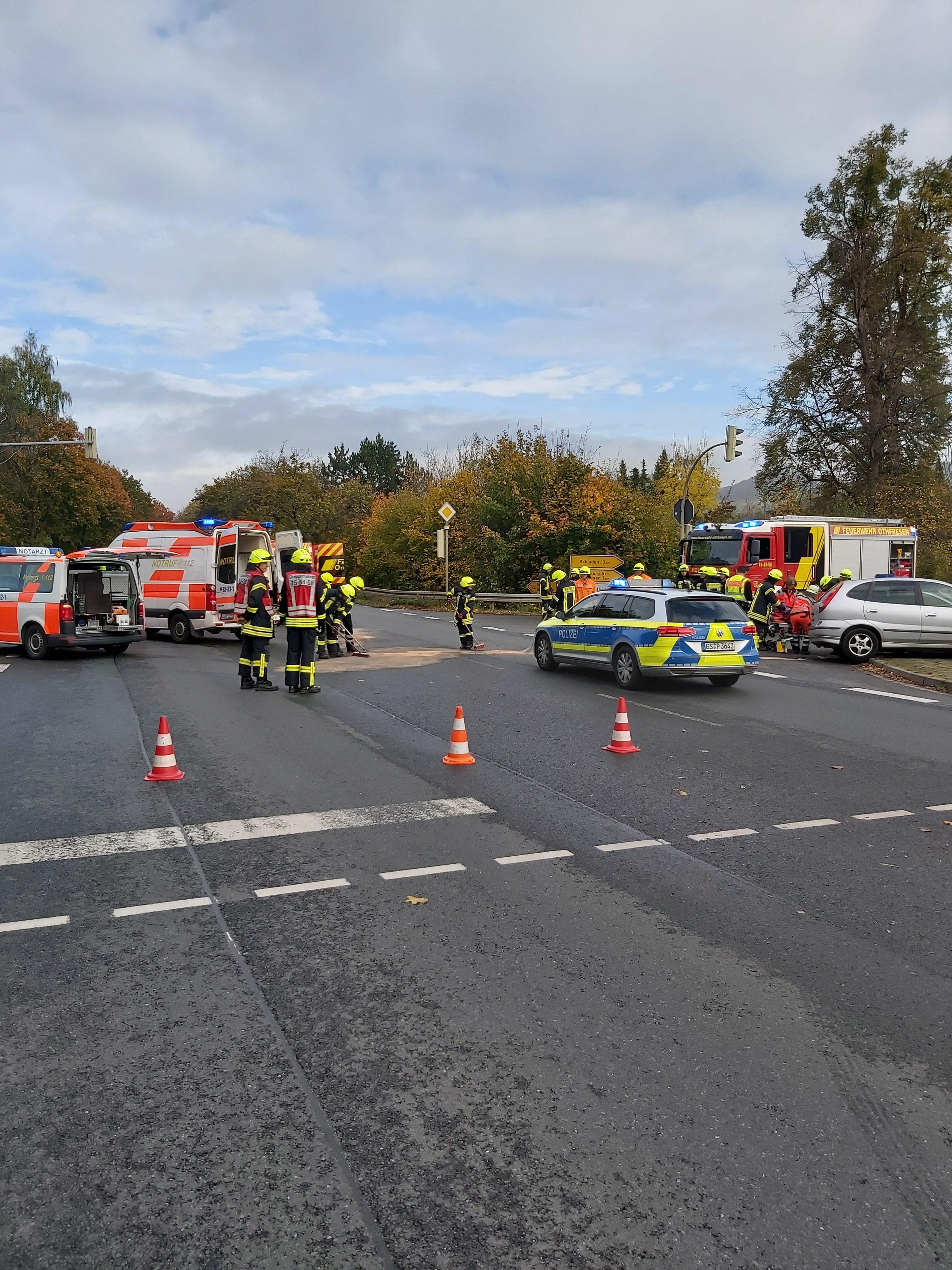 Verkehrsunfall auf der B6
