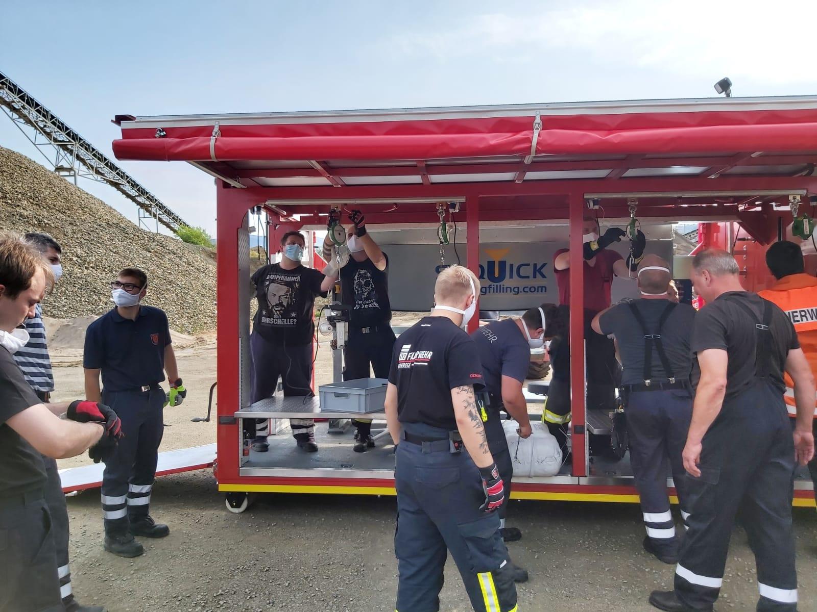 Feuerwehr Othfresen im Rahmen der Kreisfeuerwehr im Einsatz