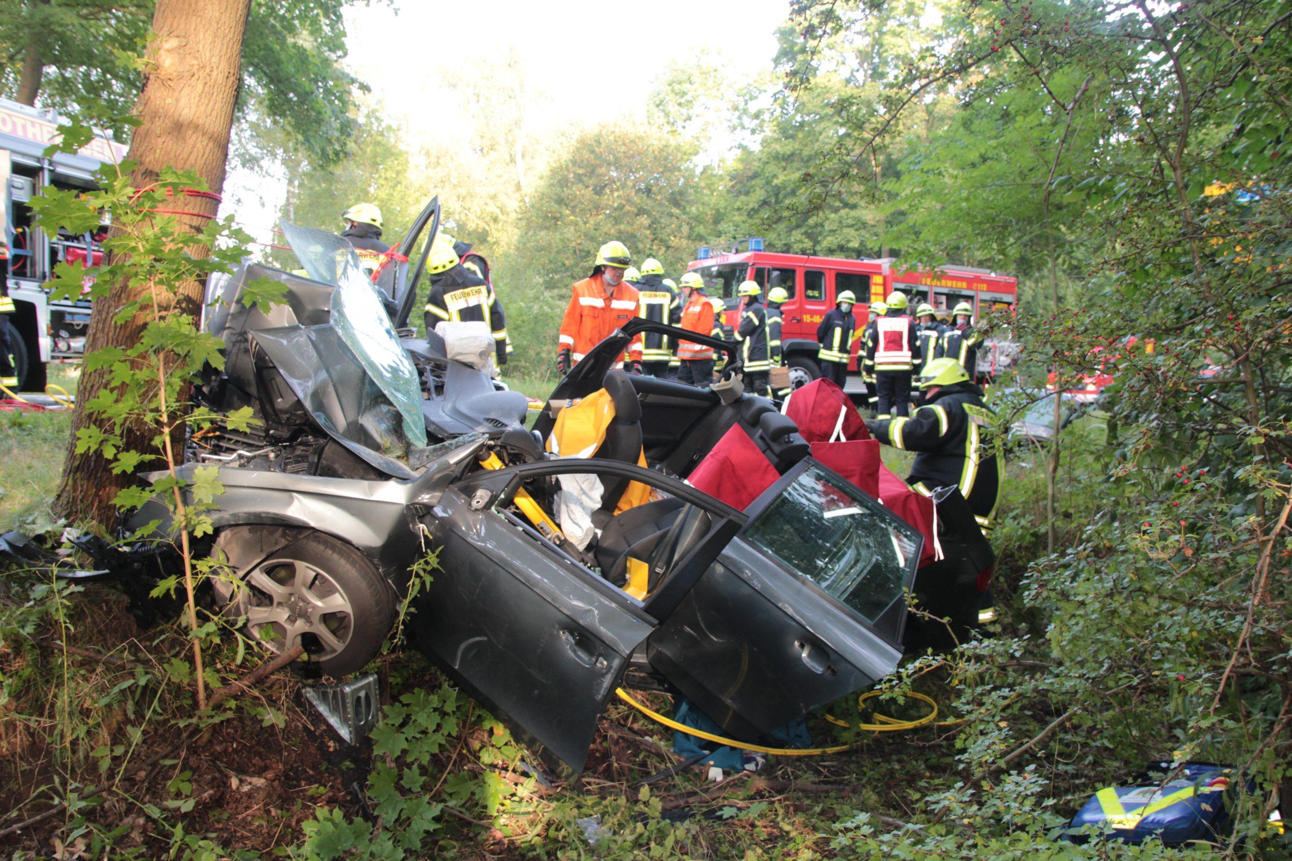 Schwerer Verkehrsunfall auf der B 6