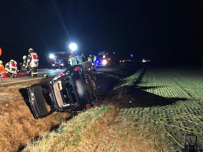 Schwerer Verkehrsunfall auf der B6